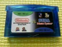 Gameboy Advance Multicart Collection GBA Cartridge 150 NES+106 SMS Game in 1 Car