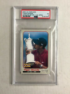 TIGER WOODS 2001 S.I. For Kids ATHLETE OF YEAR PGA RC! PSA EX 5! U.S. OPEN SP!