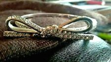"""Kate Spade New York bracelet """"LOVE NOTES """" SILVER CRYSTALS Classic BOW VALENTINE"""