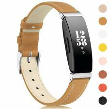 Leather Strap Wristbands Watch Band Bracelet For Fitbit inspire / inspire HR