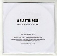 (EN442) A Plastic Rose, This Side Of Winter - 2013 DJ CD