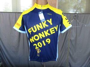 2019 Primal FUNKY MONKEY Blue & Yellow Men's Cycling Jersey, Shirt, MEDIUM, NWT