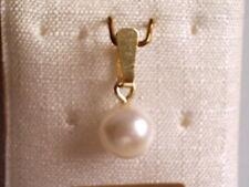 Kettenanhänger Gold 333 kleine 5 mm Zuchtperle, Anhänger Gold 333 mit Perle 5 mm