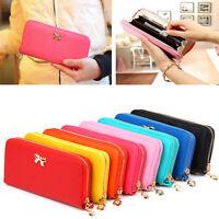 Fashion Lady Women Long Card Holder Case Leather Clutch Wallet Purse Handbag‥