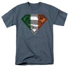Irlandés Orgullo - Superman - Celta Símbolo - Dc Comics - Camiseta Adulto