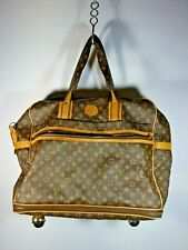 AUTHENTIC VTG. LOUIS VUITTON LARGE EXPANDABLE TRAVEL LUGGAGE ON ROLLERS