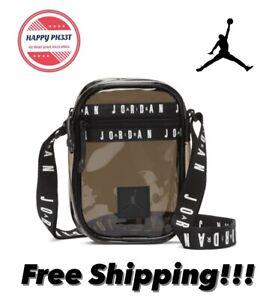 Nike Air Jordan Jumpman Crossbody Jelly Festival Bag Unisex Black 9A0415-023 NWT