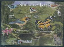 Brasilien 2008 Block Naturschutz gestempelt ,