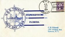 U.S.COVER U.S.S. TRENTON 1934 NAVY DAY ST. PETERSBURG FLORIDA SPECIAL SERVICE