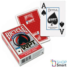 BICYCLE WPT WORLD POKER TOUR JUMBO INDEX PLAYING CARDS MAGIC TRICKS RED USA NEW
