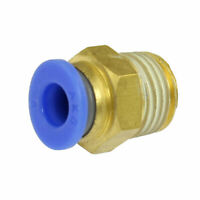 """15/64"""" Outside Dia Tube PT 1/4"""" Male Thread Push in Fitting Quick Connector"""