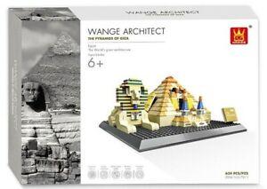 Wange 4210 Pyramiden von Gizeh Klemmbausteine Architektur Modell NEU