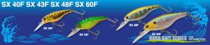 ECOGEAR SX40F SX43F SX48F SX60F JDM Bream Shad Crankbait - Lrg Variety of Colour