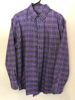 Jos. A Bank Mens Tailored/Traveler Button Down Shirt Long Sleeve Large