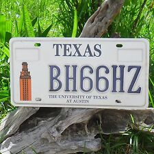 Véritable Plaque D' Immatriculation du TEXAS (BH66HZ) - USA - License Plate