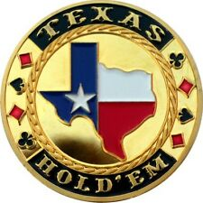 "POKER Card Guard ""del Texas Hold 'em"" 24k dorato"