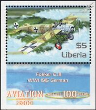 WWI 1915 Luftstreitkräfte FOKKER E.III Eindecker German Fighter Aircraft Stamp