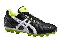 Boys Kids Junior Asics Lethal Tiger Moulded Football Boots Soccer Shoes - Black