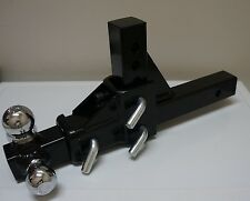 "NEW TRIPLE 3 BALL ADJUSTABLE SWIVEL TOW HITCH MOUNT TRAILER FITS 2"" RECEIVER"