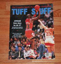 February 1991 TUFF STUFF Price Guide 11x14 Magazine-Michael Jordan (BULLS)-EX+