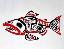 "Bill REID Northwest Coast Native Haida art card /"" Raven Steals The Salmon /"" MINT"
