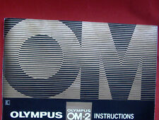 Olympus OM-2 Instruction Book: orginal maker's 100-page Owners Manual and guide