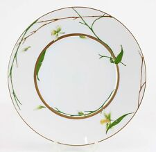 "Medard De Noblat Limoges ""Jardin de Flore"" Orchid Gilded 11"" Dinner Plate M643"
