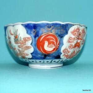 JAPANESE PORCELAIN ANTIQUE FLOWER IMARI BOWL 19thc