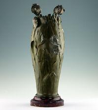 Abel Philippe 1900 Art Nouveau Jugendstil Bronze Vase Frankreich Signiert
