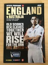OFFICIAL TEST MATCH PROGRAMME - Nottingham Trent Bridge THE ASHES 2013 - Ticket
