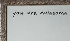 you are awesome Mirror Decal Sticker Inspirational Quote Vinyl Wall Door Decal