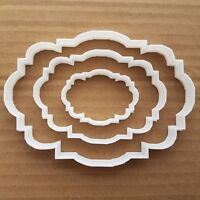 Plaque Frame Mirror Shape Cookie Cutter Dough Biscuit Pastry Fondant Sharp