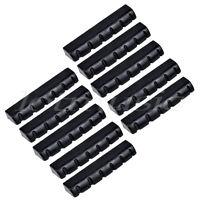 Guitar Nut for Acoustic Electric Guitar Parts 43mm Slotted Plastic Black 10pcs