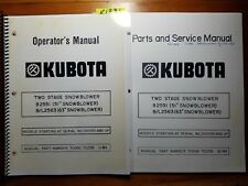 "Kubota B2551 51"" B/L2563 63"" Snowblower 100- Operator + Parts & Service Manual"