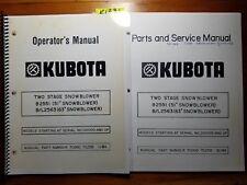 Kubota B2551 51 Bl2563 63 Snowblower 100 Operator Parts Amp Service Manual