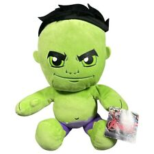 """MARVEL AVENGERS SUPER HERO THE INCREDIBLE HULK SOFT TOY PLUSH 14""""  WITH TAGS"""