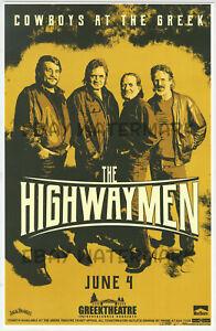 The Highwaymen final show poster 1996 Waylon Jennings, Johnny Cash, Willie RARE