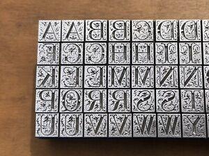 Antique VTG 24pt Fancy Monogram Initial Letter Letterpress Print Type Set