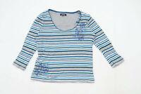 Maine Womens Size 16 Striped Cotton Multi-Coloured Top (Regular)