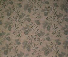 Green Pine Cones & Foliage on Brown & Tan Faux Wallpaper by Paperpro FD58522