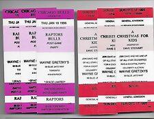 Lot of 11 1995 1996 Wayne Gretzky Restaurant Event Tickets