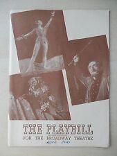 March 1945 - Broadway Theatre Playbill - The Tempest - Vera Zorina - Canada Lee