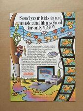 "1992 MARIO PAINT SNES ""Send your kids to art,..."" Original Print Ad, 8""x10.75"""