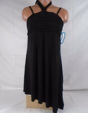 Leo's Dancewear Black Micro Jersey Tunic Halter Dress XLarge Item #693N 25-03