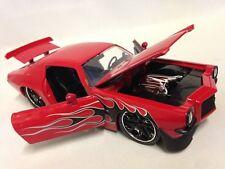 "1971 Chevy Camaro, 8"" Metals Die Cast 1:24 Scale Collecible Jada Toy Red"