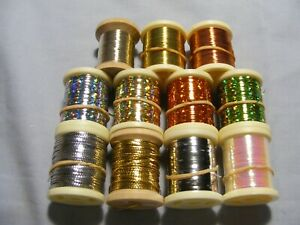 Assorted Spools Fly Tying Mylar Tinsel or Wire, Choose item, only pay one post
