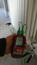 HVAC plumbers temperature differential kit (2 clamp probes thermometer & case)
