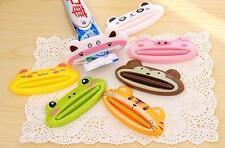 2x Bathroom Tube Rolling Holder Squeezer Easy Cartoon Toothpaste Dispenser