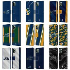 OFFICIAL NBA UTAH JAZZ LEATHER BOOK WALLET CASE COVER FOR APPLE iPHONE PHONES