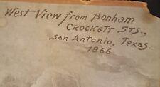 Cabinet card of San Antonio, Texas Bonham Street in 1866